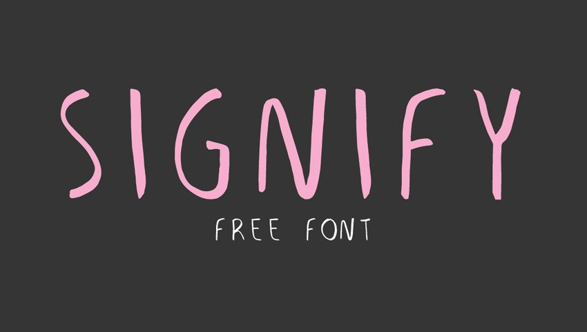 Signify Free Font