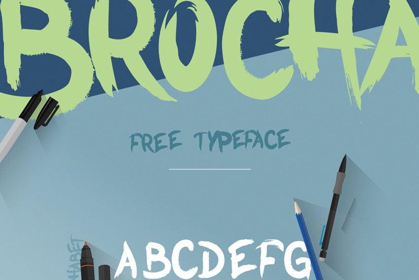 Brocha Free Font