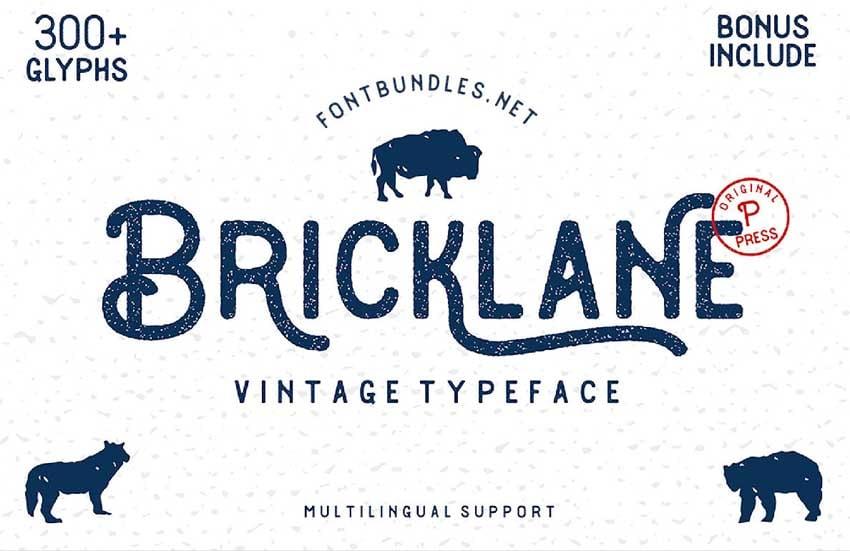 Bricklane Free Font