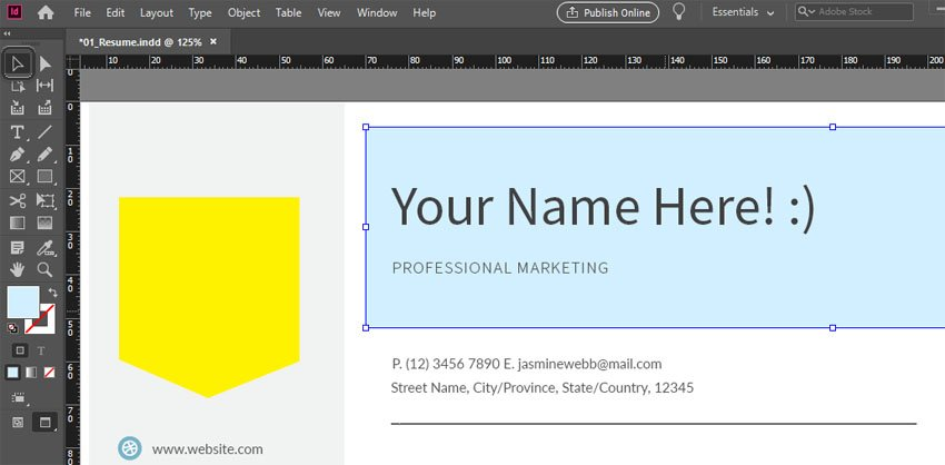 Move Tool InDesign