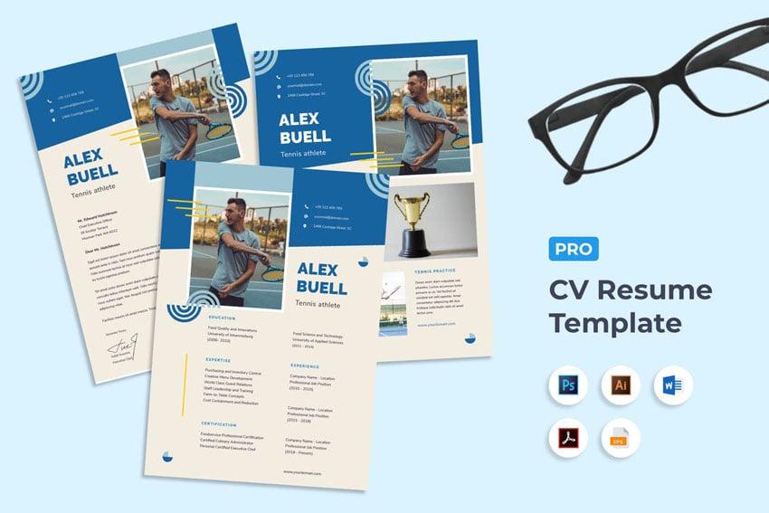 eye catching cv templates