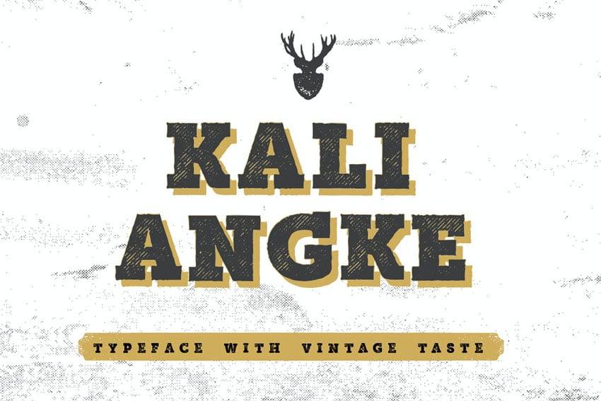 Kali Angke Sketch Block Serif Font
