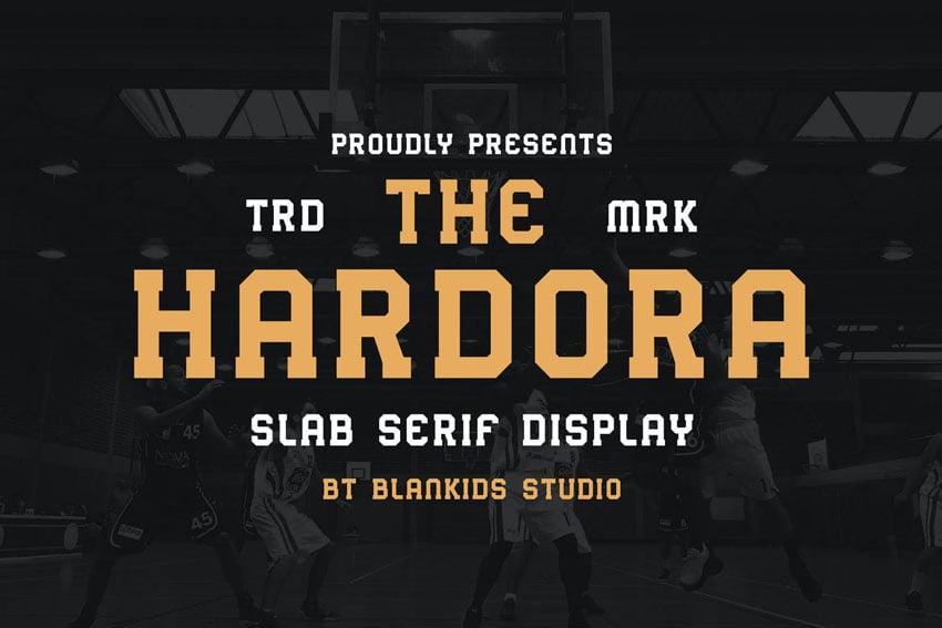 Hardora Sporty Block Serif Font