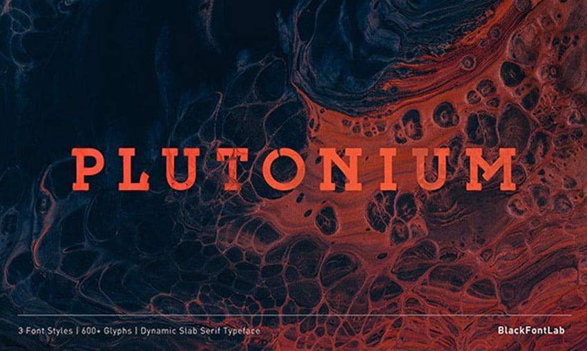 Plutonium Slab Typeface