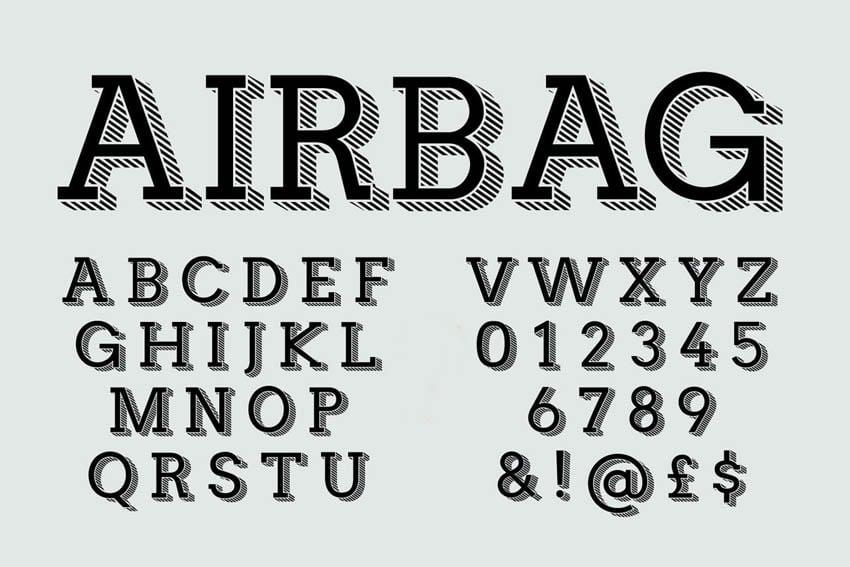 slab font