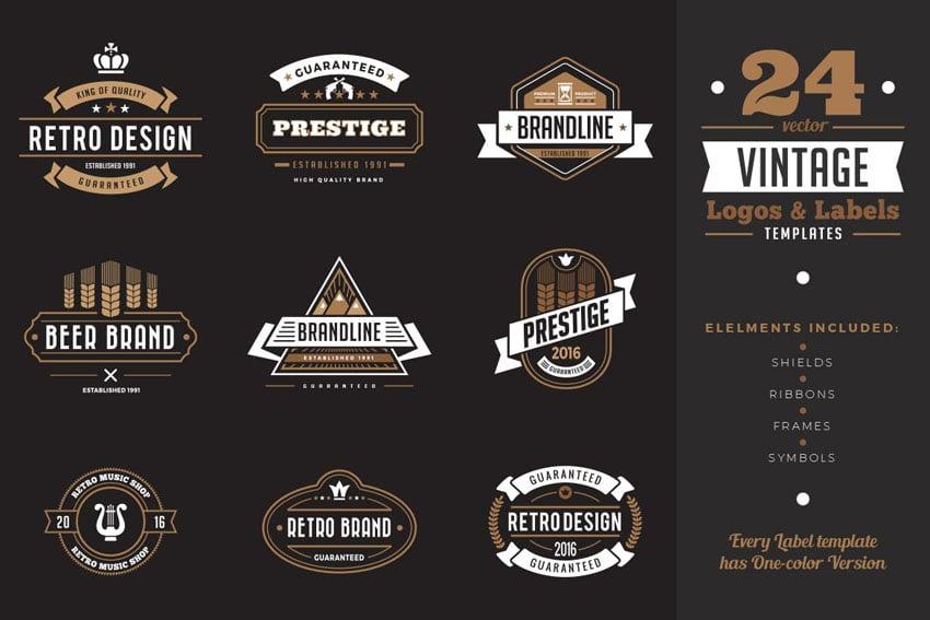 vintage logo design slab serif