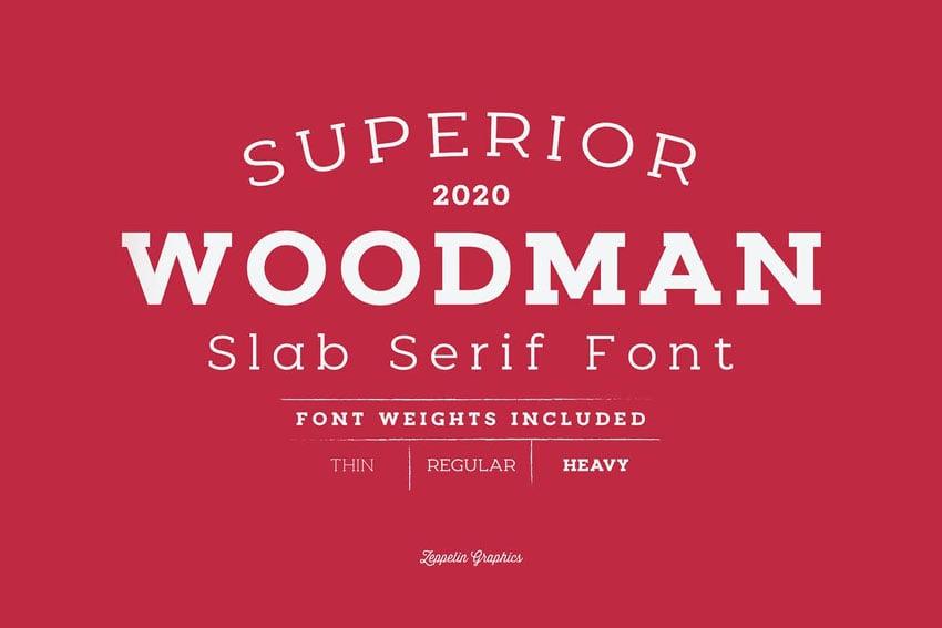 Woodman Block Serif Font