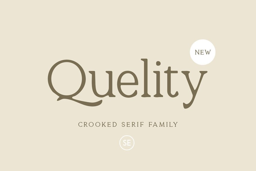 Quelity Simple Modern Fonts Family