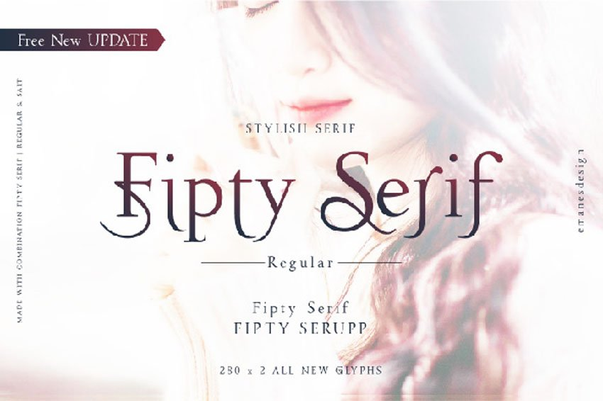 Fipty Serif Thin Modern Fonts