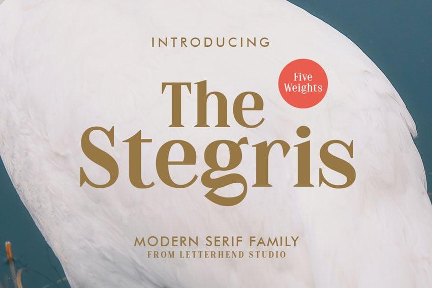 The Stegris Serif Modern Bold Fonts Family
