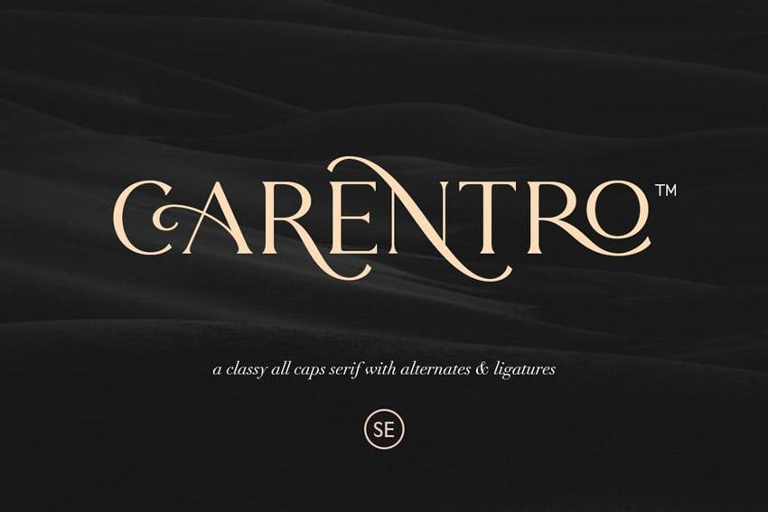 Carentro Modern Elegant Fonts