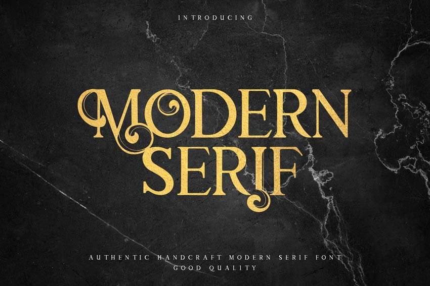 Modern Elegant Fonts Serif Type