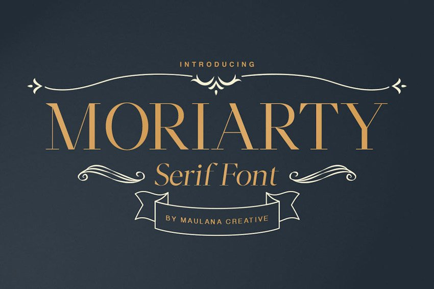 Moriarty Serif Thin Modern Fonts