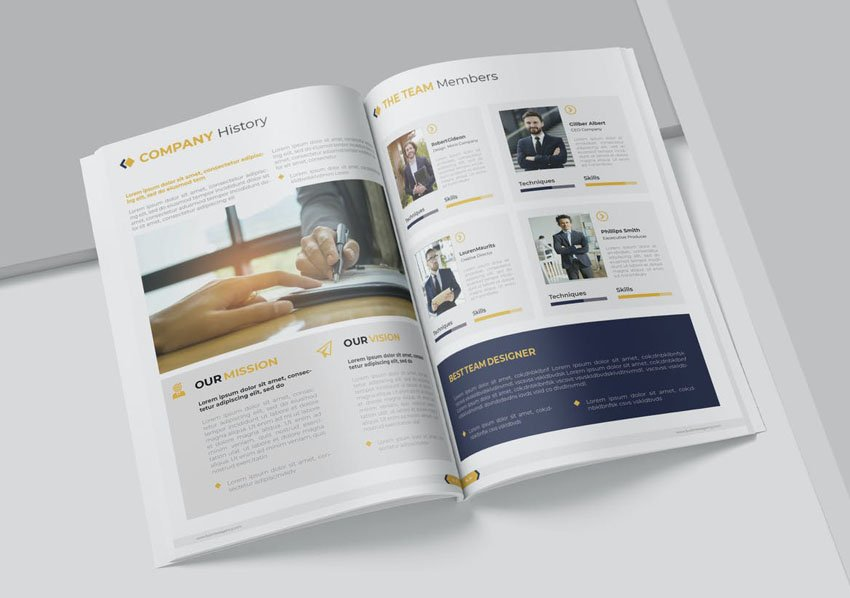 InDesign proposal template
