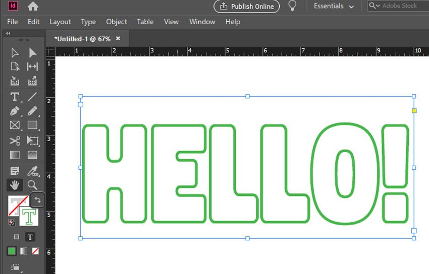 how to change font color in indesign fill and stroke