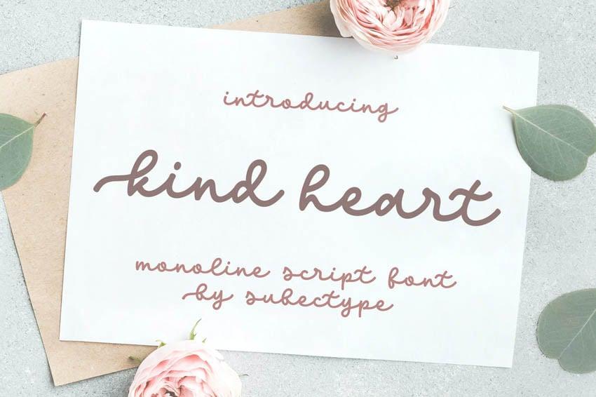 Kind Heart Pretty Circuit Script Font
