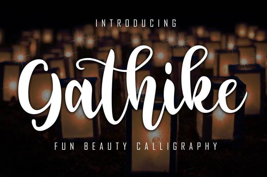 Gathike Calligraphy Cricut Script Font