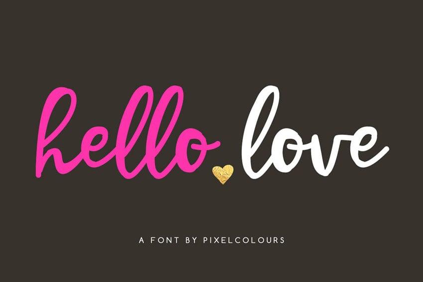 Hello Love Stylish Cricut Script Font