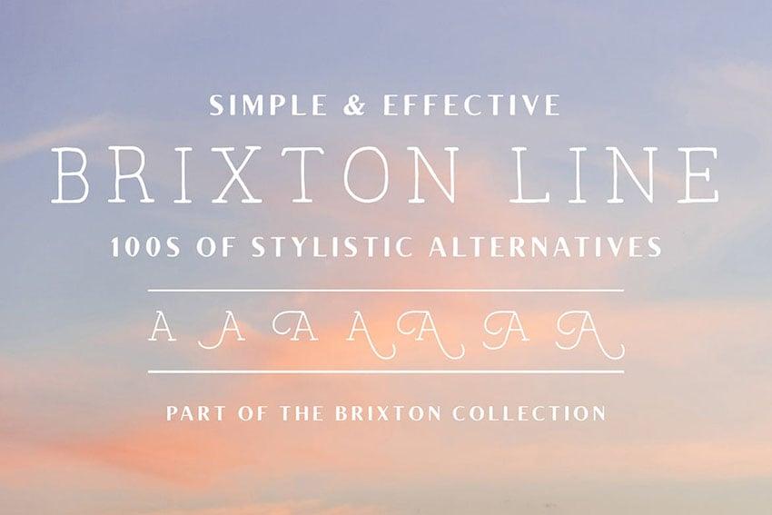 Brixton Line Cricut Handwriting Fonts