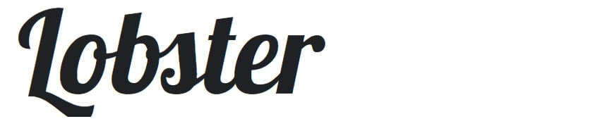 Lobster Free Display Font