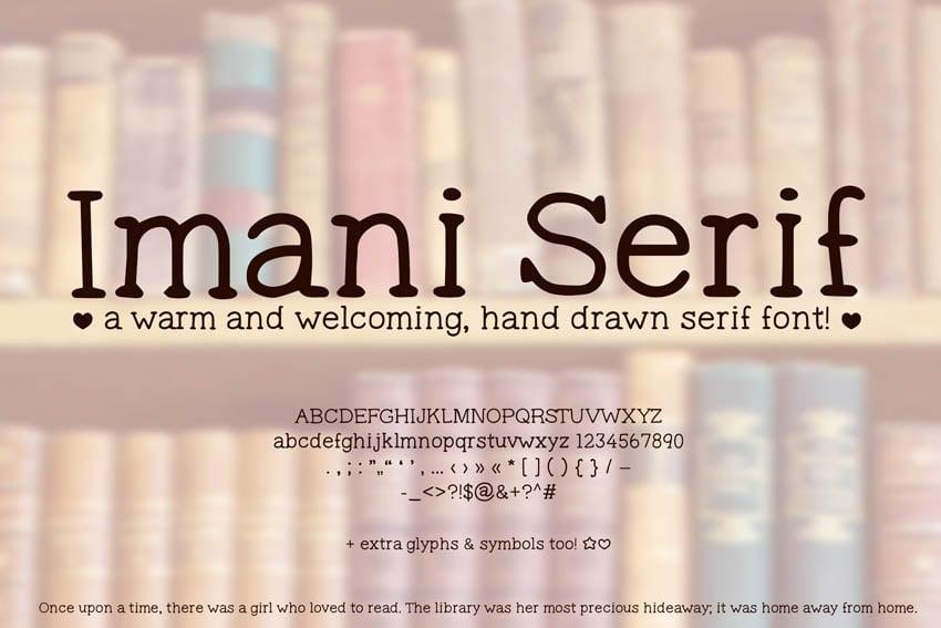 Imani Serif Hand Drawn Font