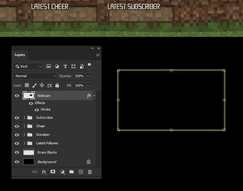 minecraft webcam overlay design