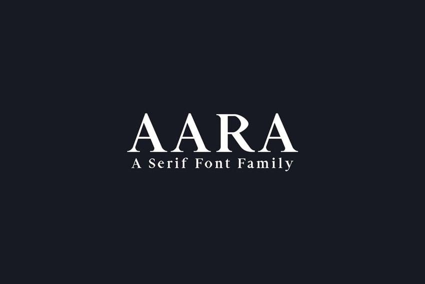 Aara Serif Font Family