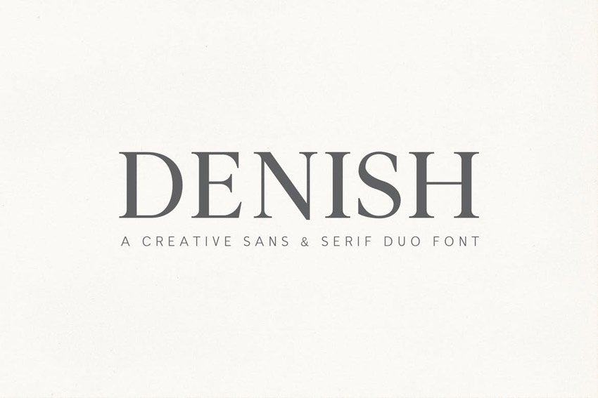 Denish Sans & Serif Duo Font Family