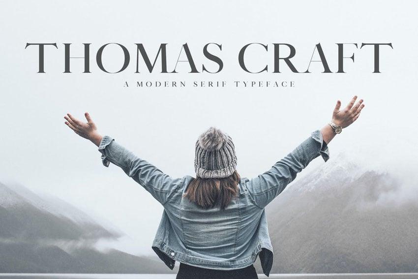 Thomas Craft Serif Typeface