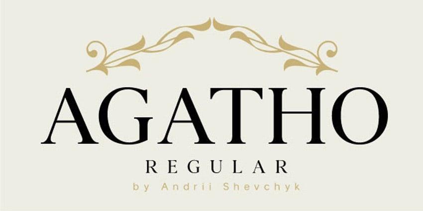 Agatho Regular Old Style Serif Inspired Font