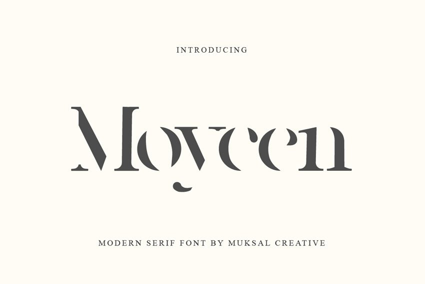 Moycen Cut Out Old Style Font