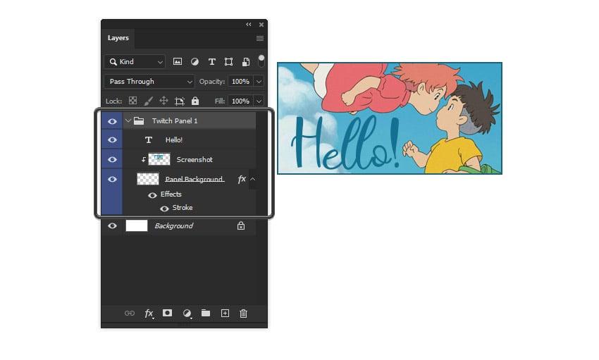Photoshop Group Folder