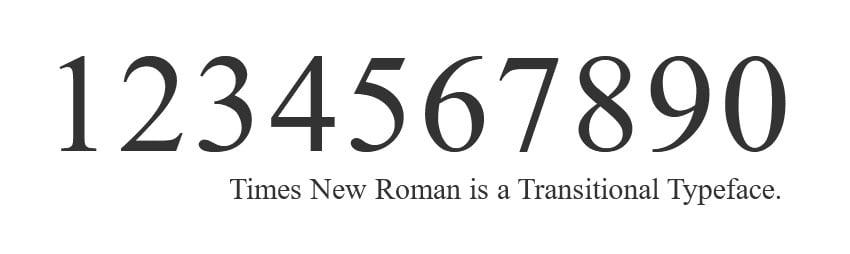 times new roman font