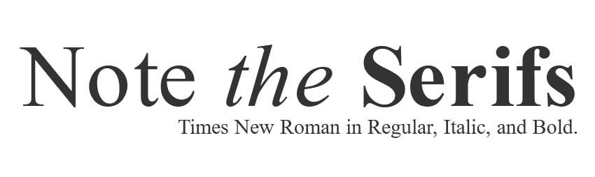 times new roman font family