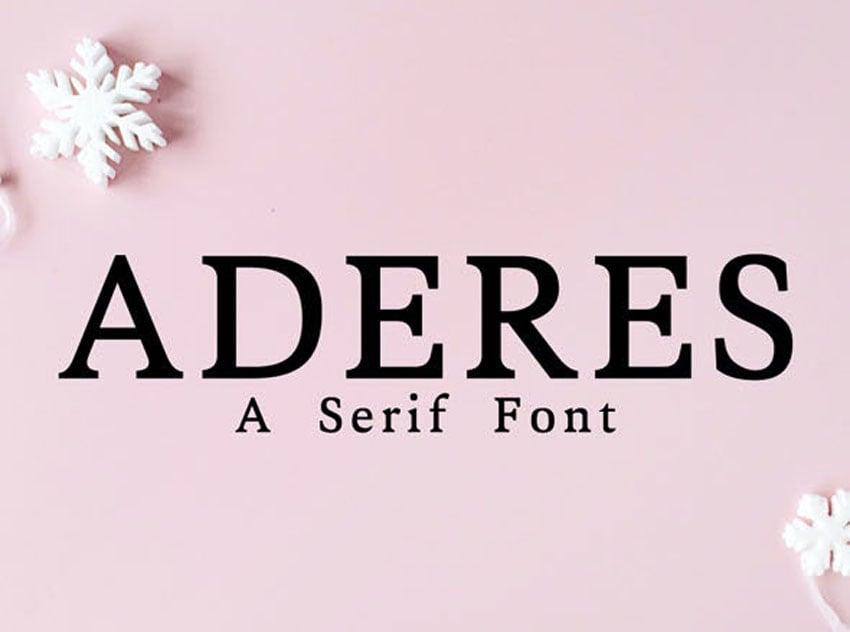 Aderes Serif Font Family