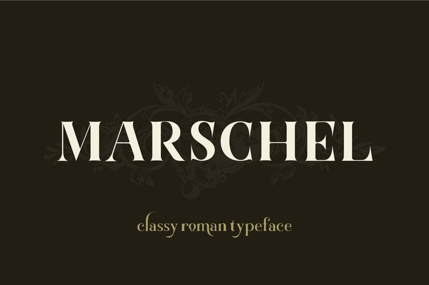 Marschel | a Classy Roman Typeface