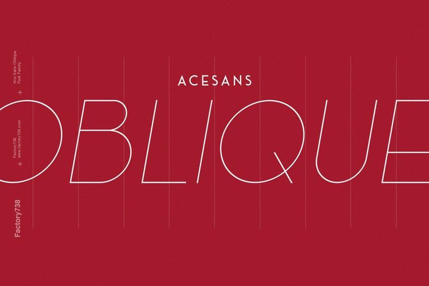 Ace Geometric Sans Serif Oblique