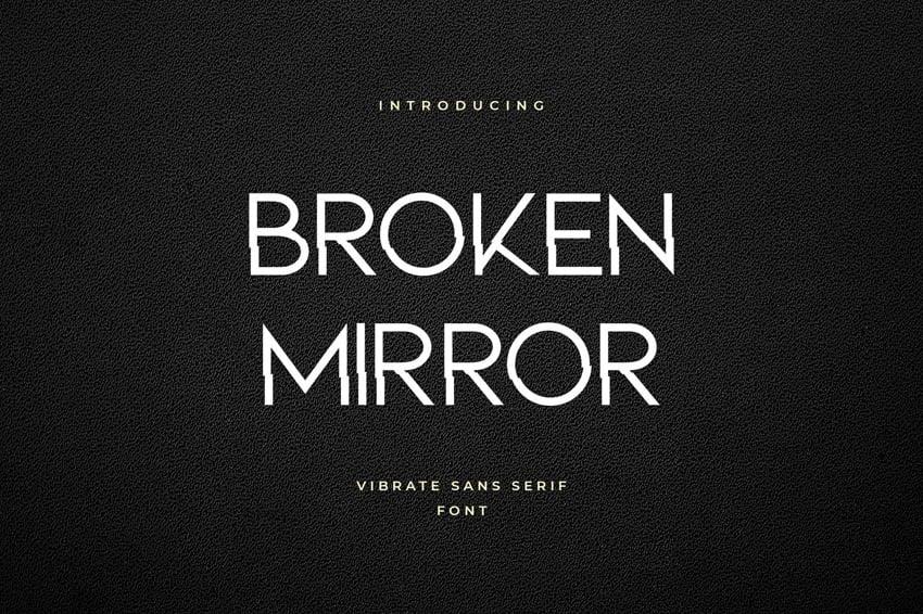 Broken Mirror Geometric Font Logo Typeface