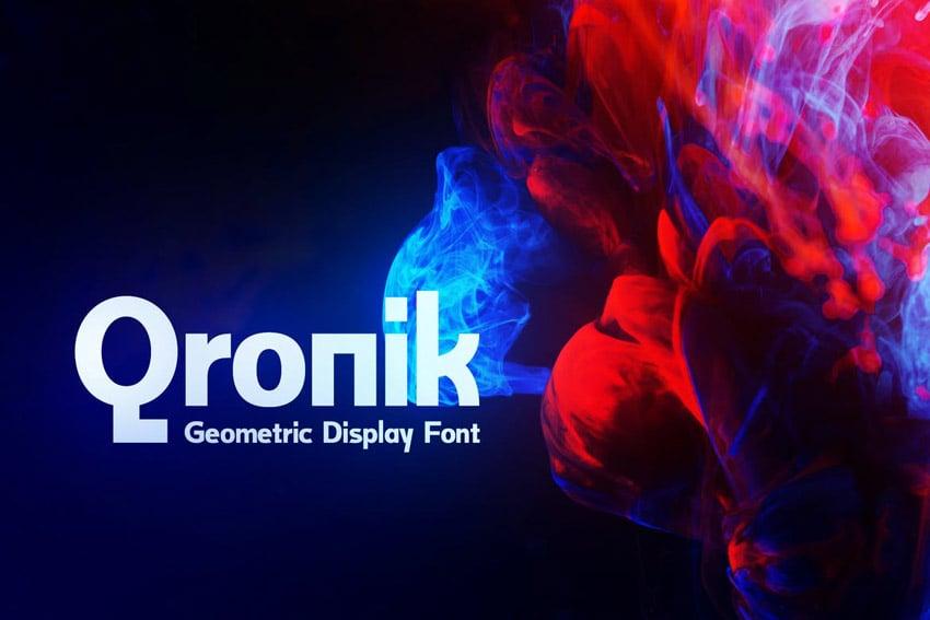 Qronik Geometric Display Fonts