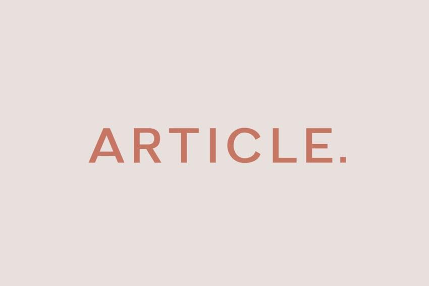 Article Geometric Sans Serif Typeface
