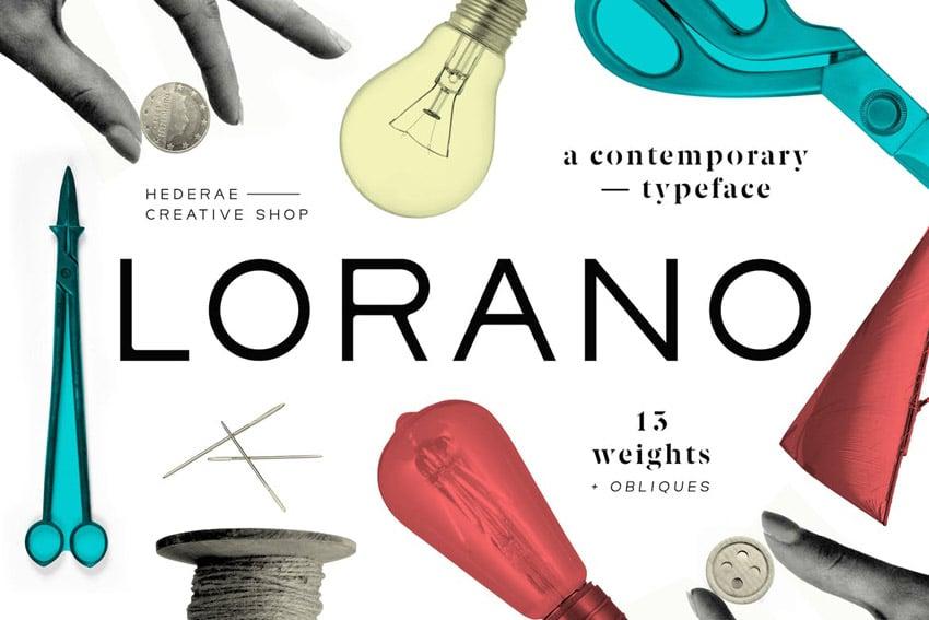 Lorano Geometric Sans Serif Fonts
