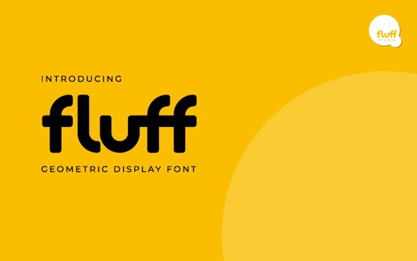 Fluff Stylish Geometric Display Fonts