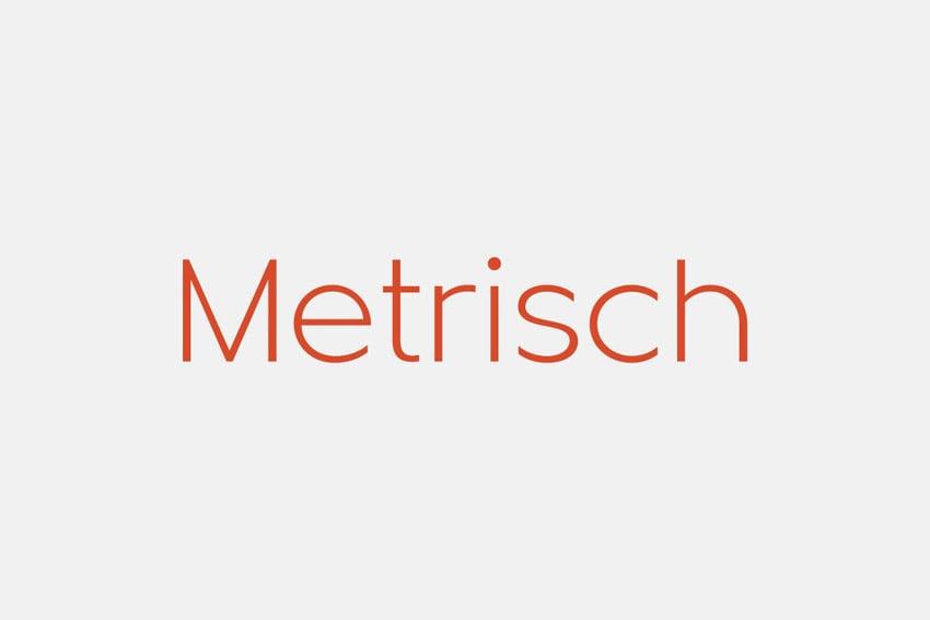 Metrisch Geometric San Serif Font