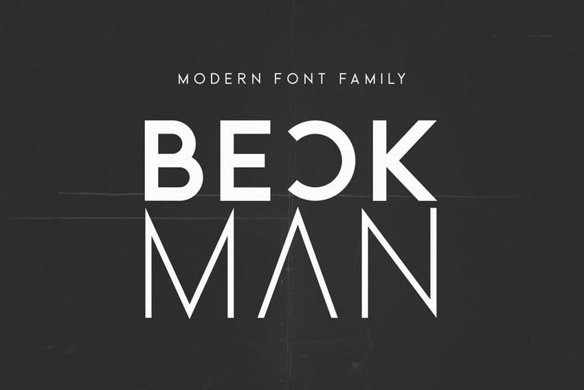Beckman Modern Geometric Font Family