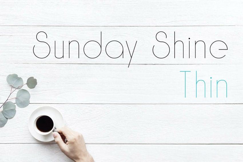 Sunday Shine Thin Geometric Display Fonts
