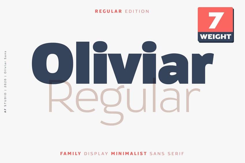 Oliviar Sans Regular Family