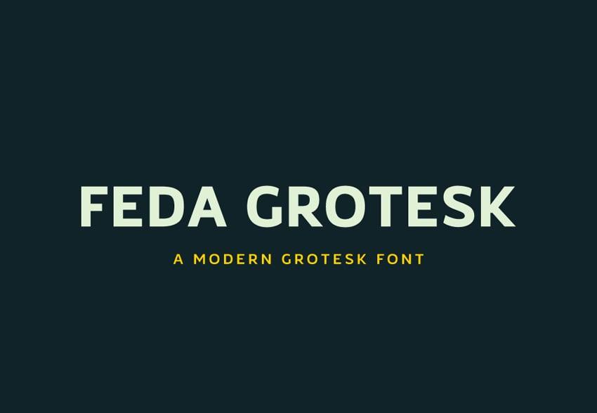 Feda Grotesk Font