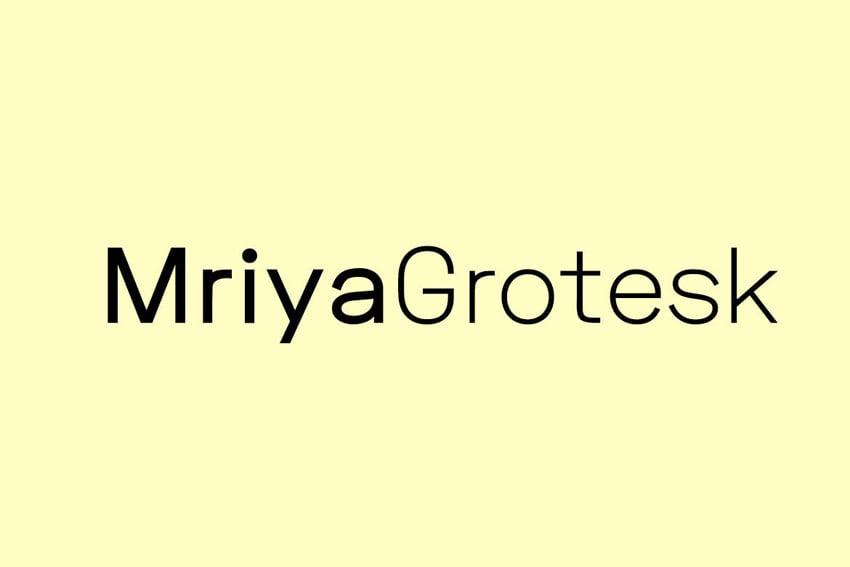 Mriya Grotesk - Premium Sans-Serif Typeface
