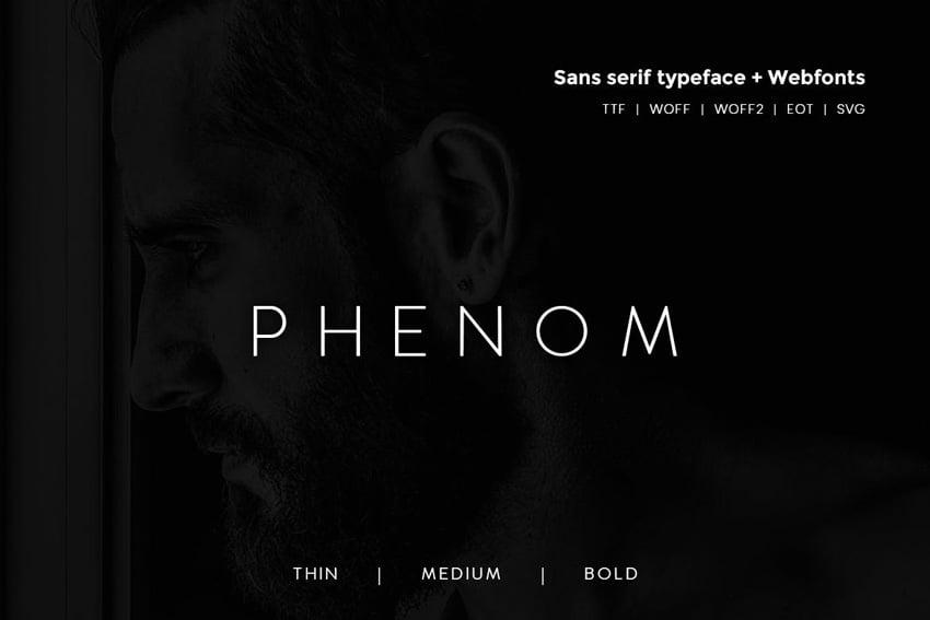 Phenom Grotesque - Modern Typeface + Webfonts