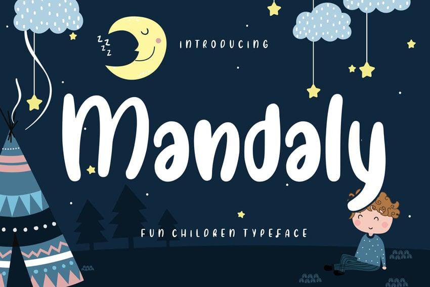 Mandaly Fun Children Typeface by RahardiCreative